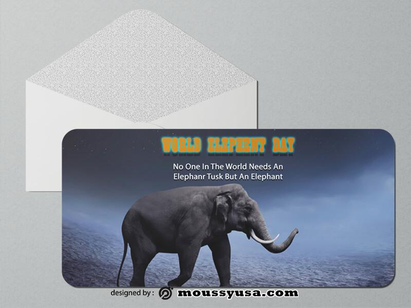 Elephent Greeting Card templates Design