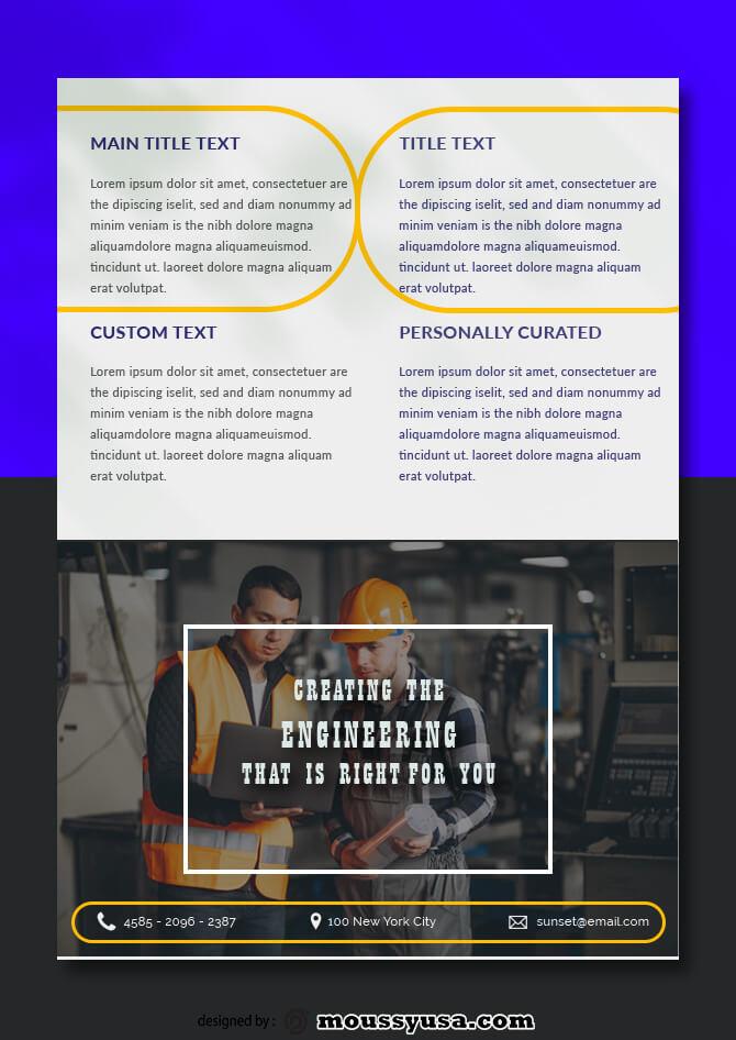 Engineering Data Sheet templates Design