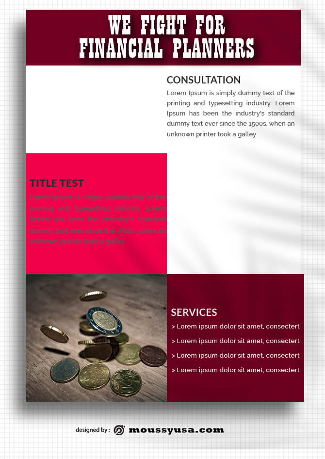 Financial Planners Data Sheet Design templates