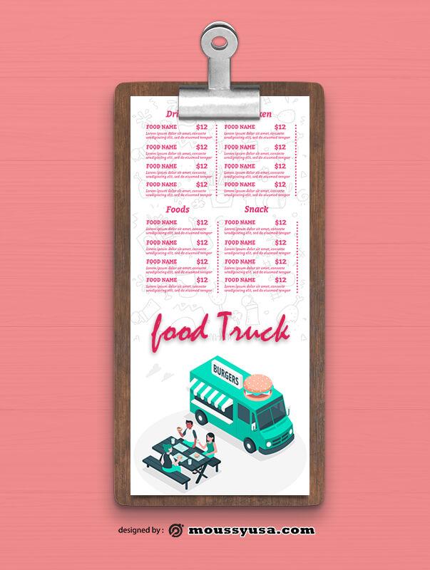 Food Truck Menu Design templates