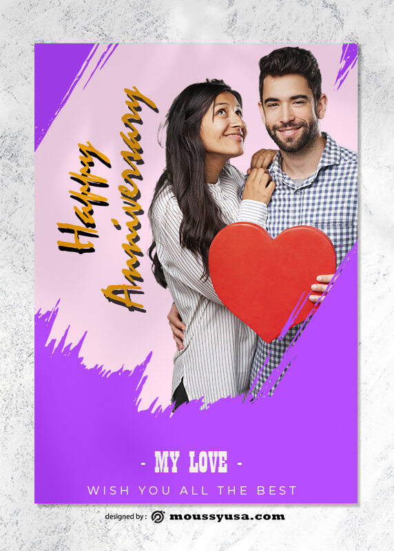 Happy Anniversary Greeting Card templates Ideas