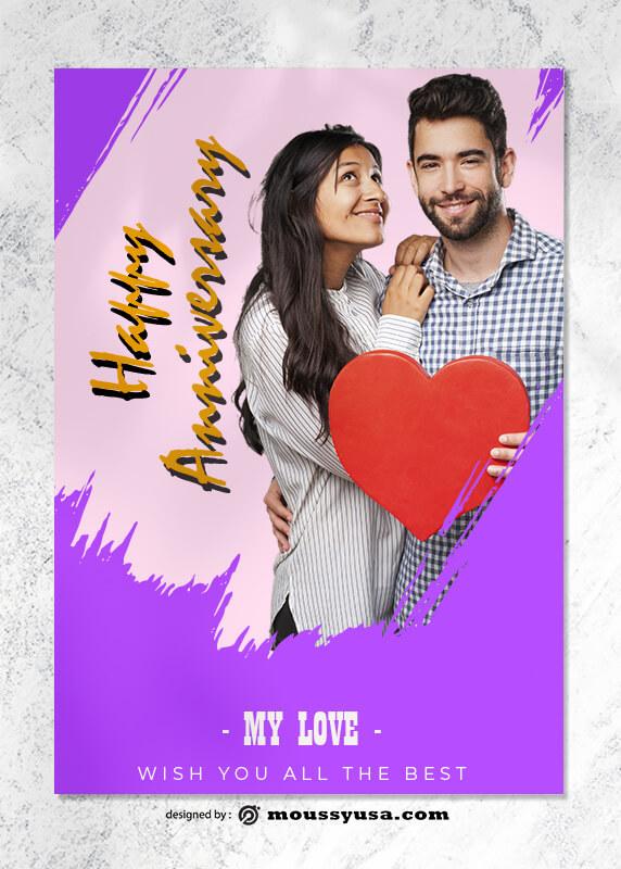 Happy Anniversary Greeting Card templates Ideas