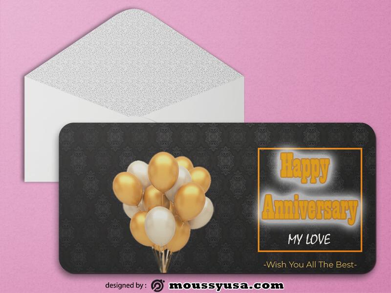 Happy Anniversary Greeting Card templates Sample