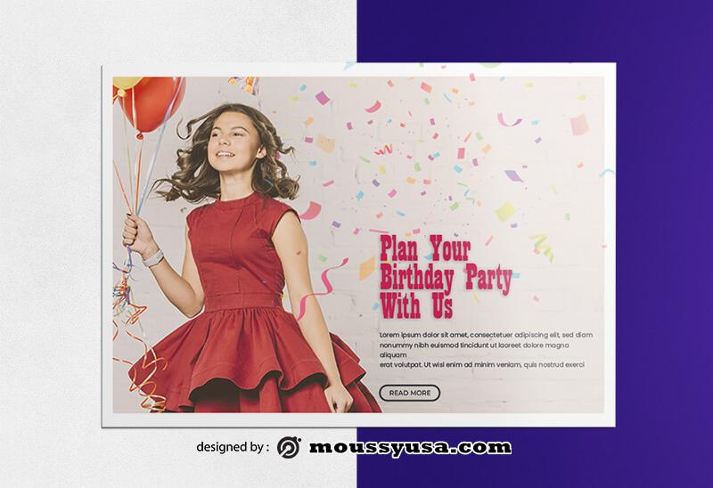 Happy Birthday Greeting Card templates Design