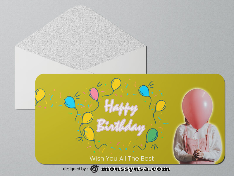 Happy Birthday Greeting Card templates Example
