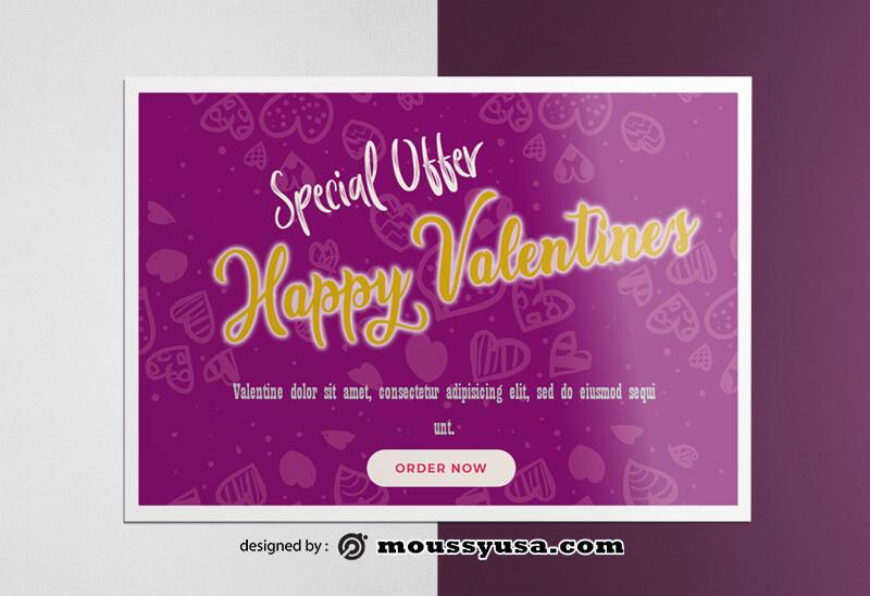 Happy Valentines Greeting Card templates Design