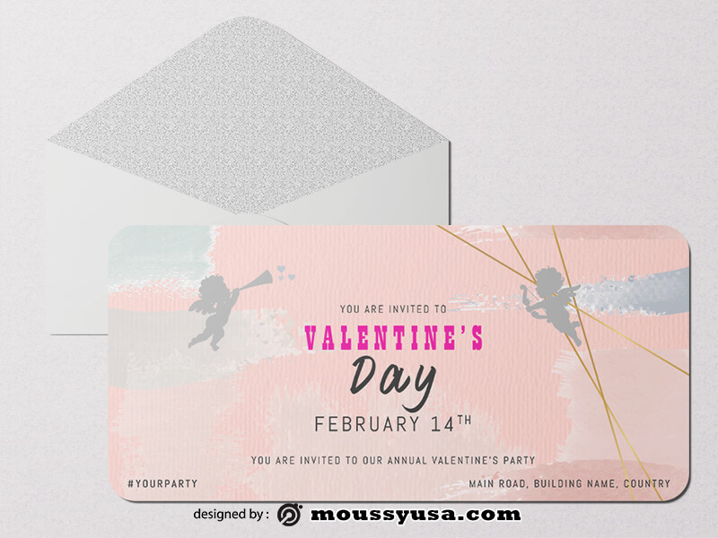Happy Valentines Greeting Card templates Example