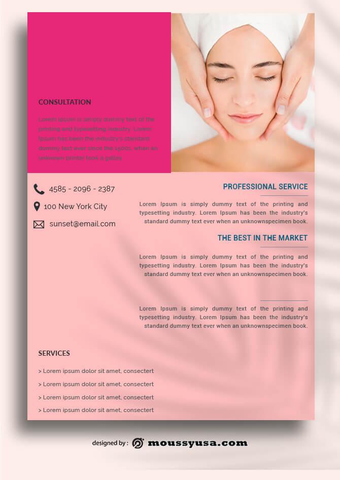 Health SPA Data Sheet templates Design