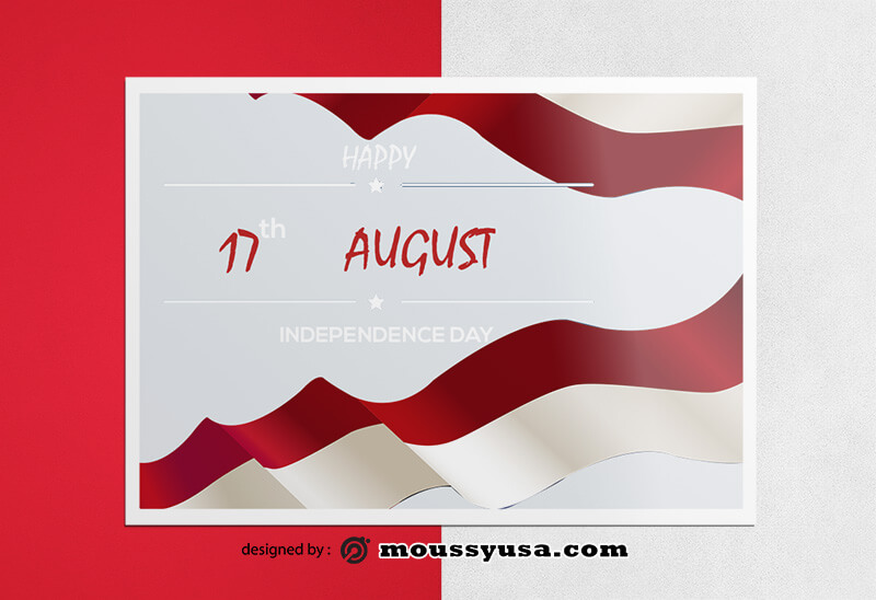 Independence Day Greeting Card Design templates