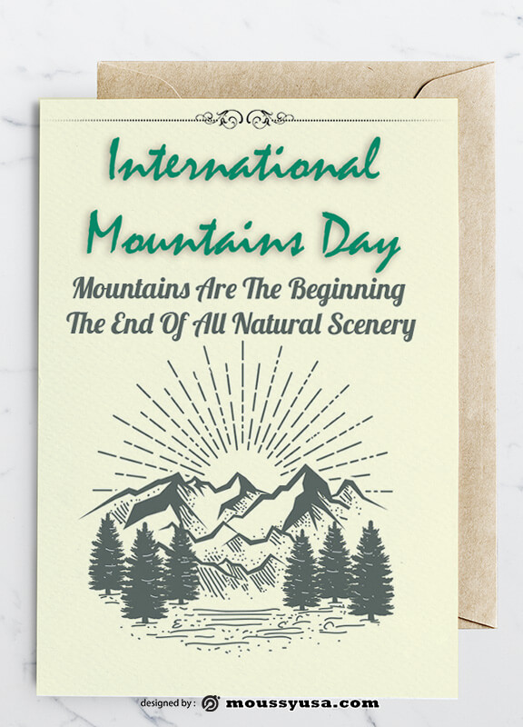 Mountains Greeting Card templates Sample