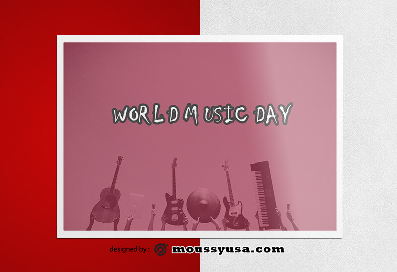 Music Day Greeting Card Design Ideas