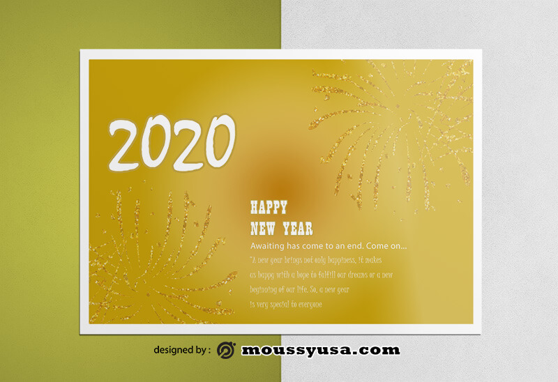 New Year Greeting Card templates Sample
