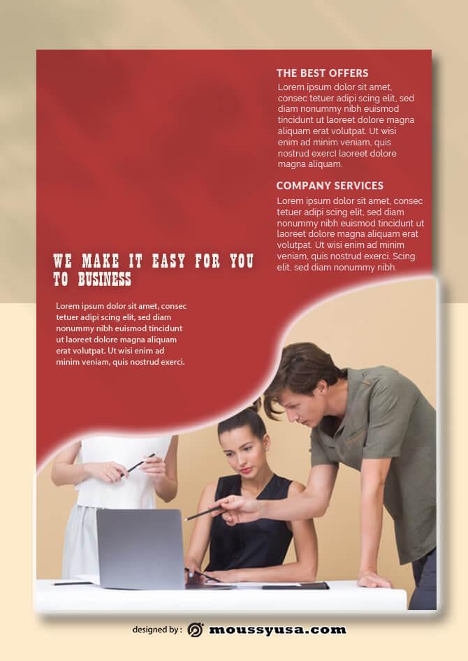 PSD Business Data Sheet templates