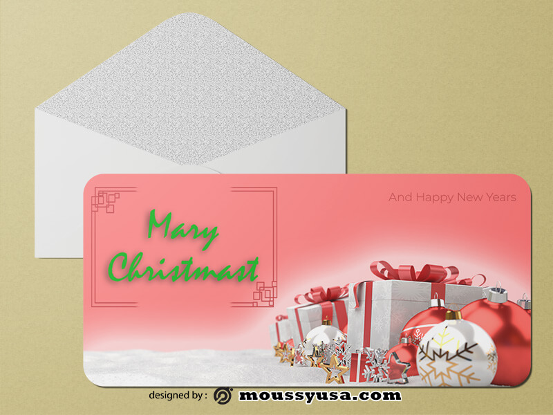 PSD Christmas Greeting Card templates