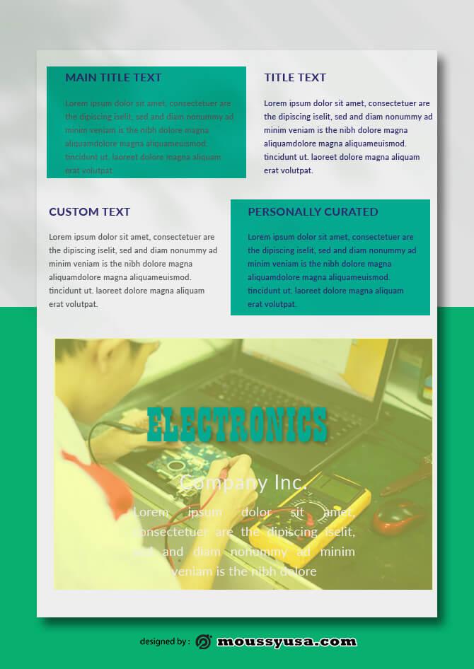 PSD Electronics Data Sheet templates