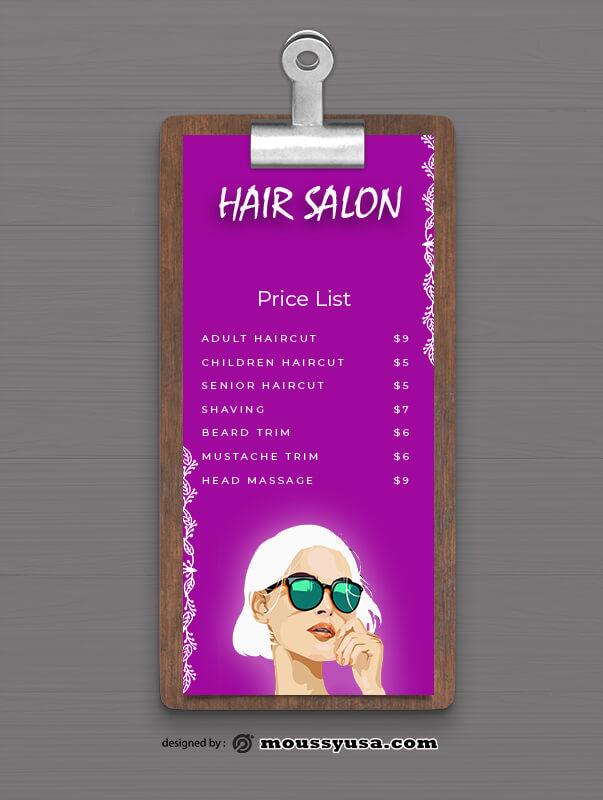 PSD Hair Salon Menu templates