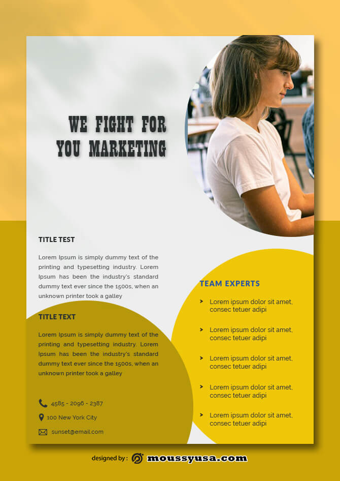 PSD Marketing Data Sheet templates