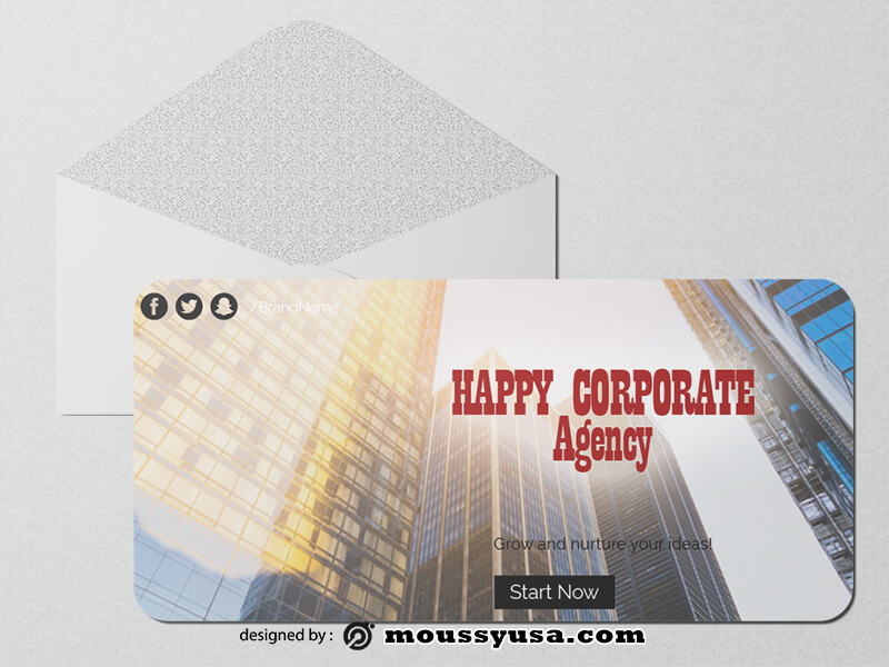 PSD templates For Corporate Greeting Card