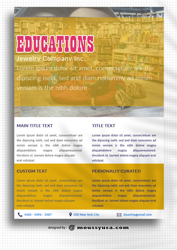 PSD templates For Education Data Sheet