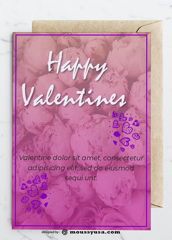 PSD templates For Happy Valentines Greeting Card
