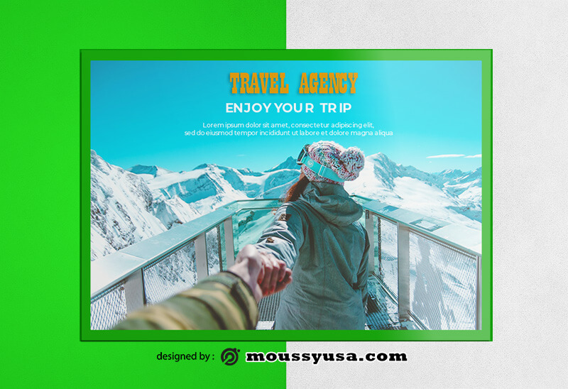 PSD templates For Travel Agency Greeting Card