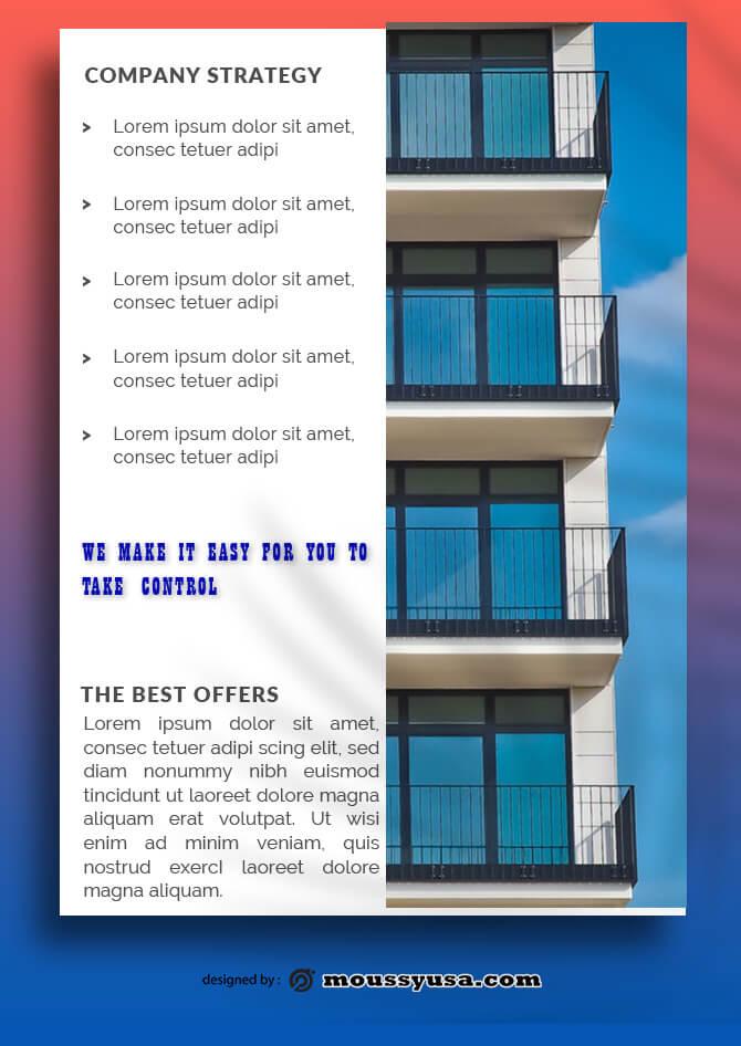 Real Estate Data Sheet Design PSD