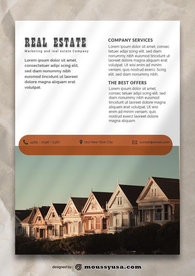 Real Estate Data Sheet Design templates