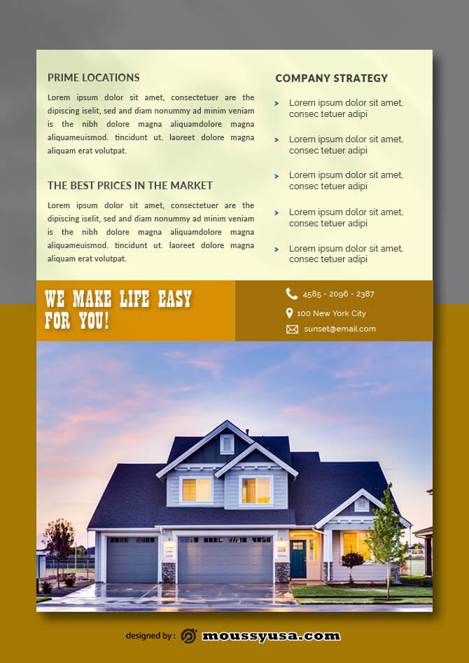 Real Estate Data Sheet templates Example