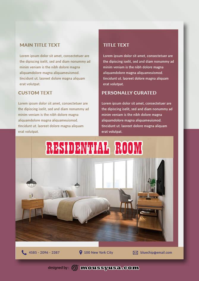 Residential Room Data Sheet templates Sample