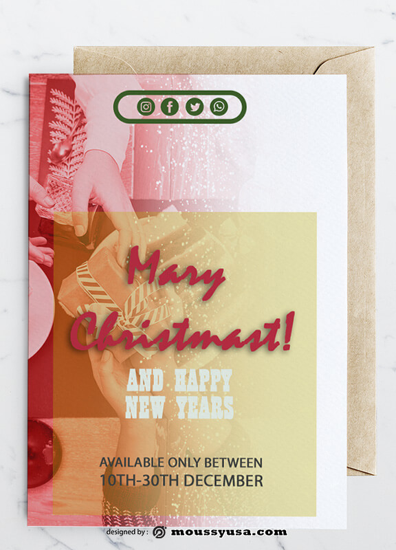 Sample Christmas Greeting Card templatess