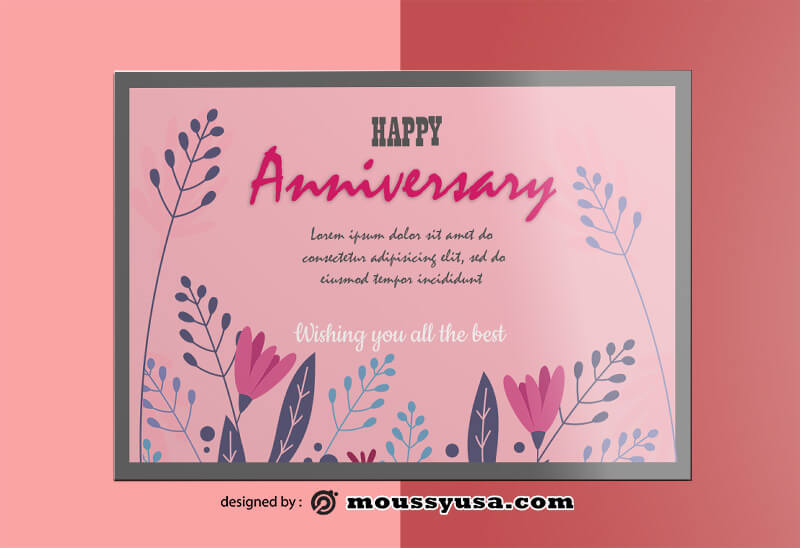 Sample Happy Anniversary Greeting Card templatess