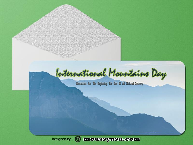 Sample Mountains Greeting Card templatess