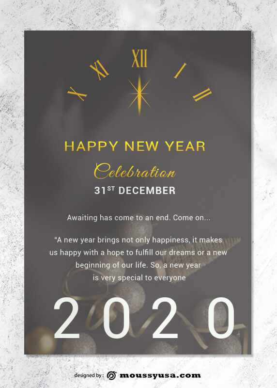 Sample New Year Greeting Card templatess
