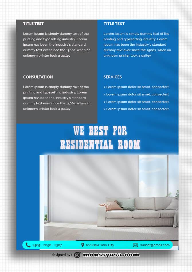 Sample Residential Room Data Sheet templatess