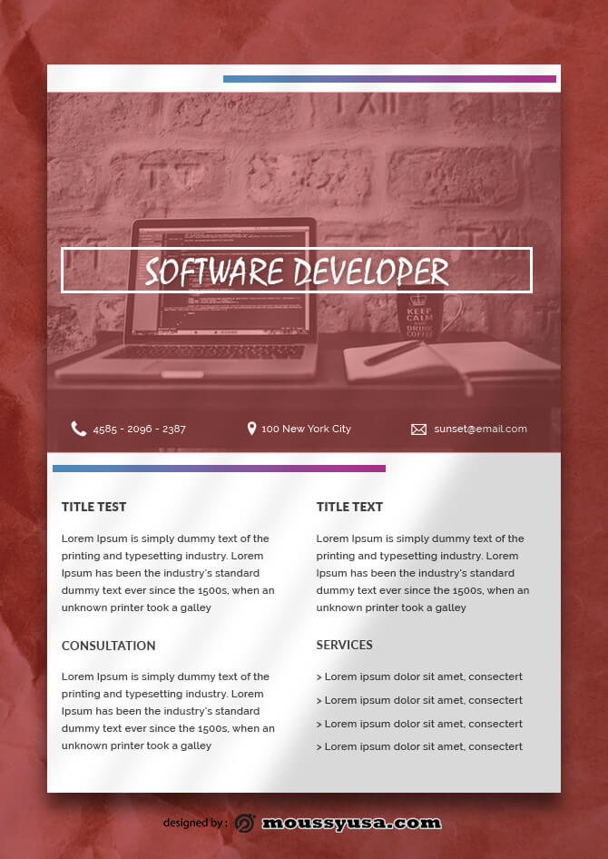 Software Data Sheet Design Ideas