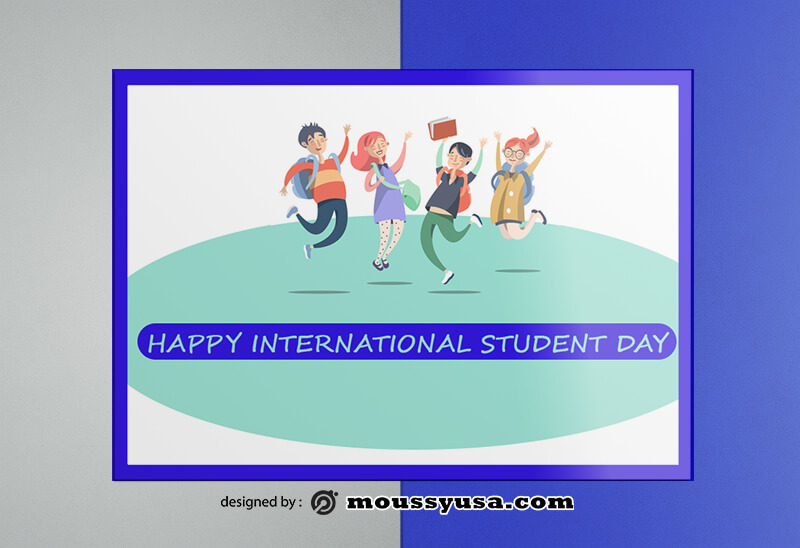 Student Day Greeting Card templatess Design
