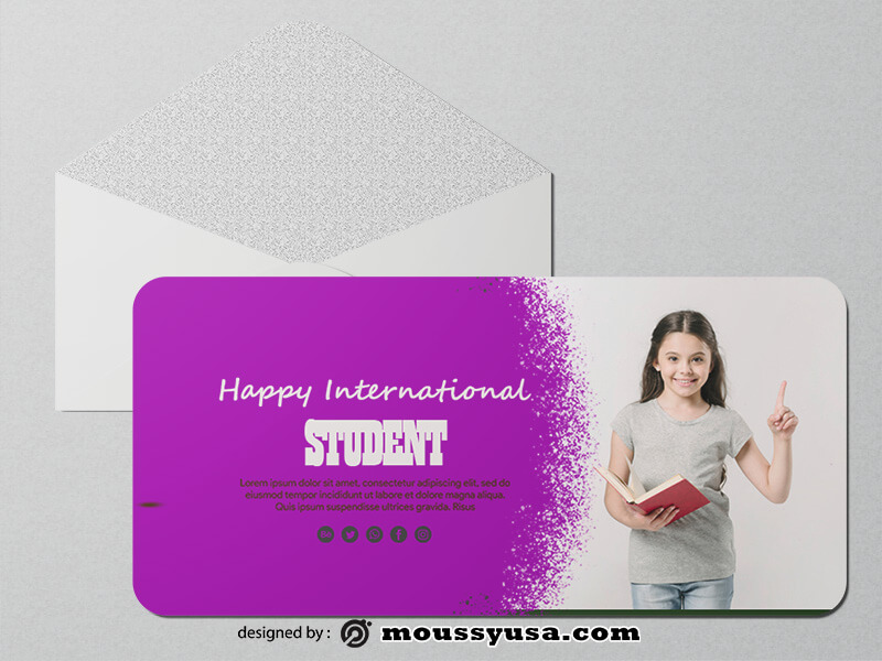 Student Day Greeting Card templatess Ideas