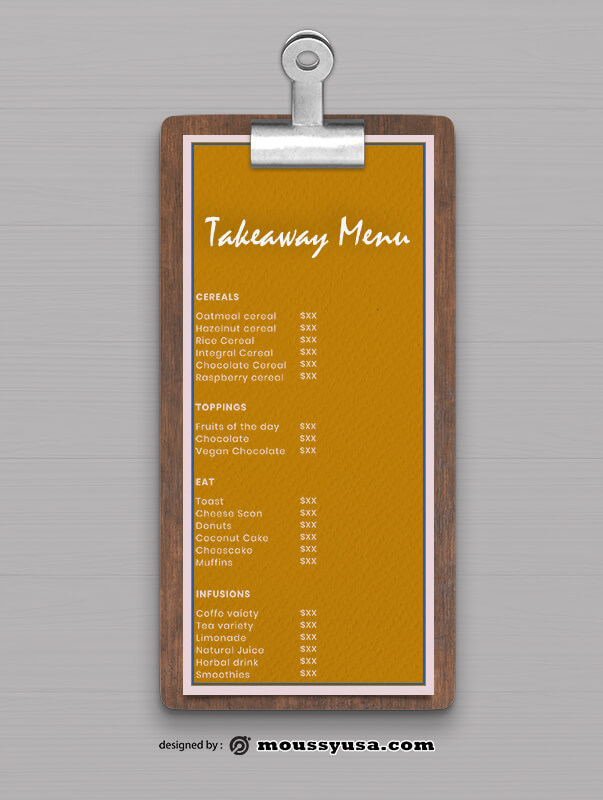 Takeaway Menu templates Design