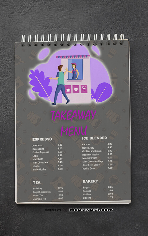 Takeaway Menu templates Example