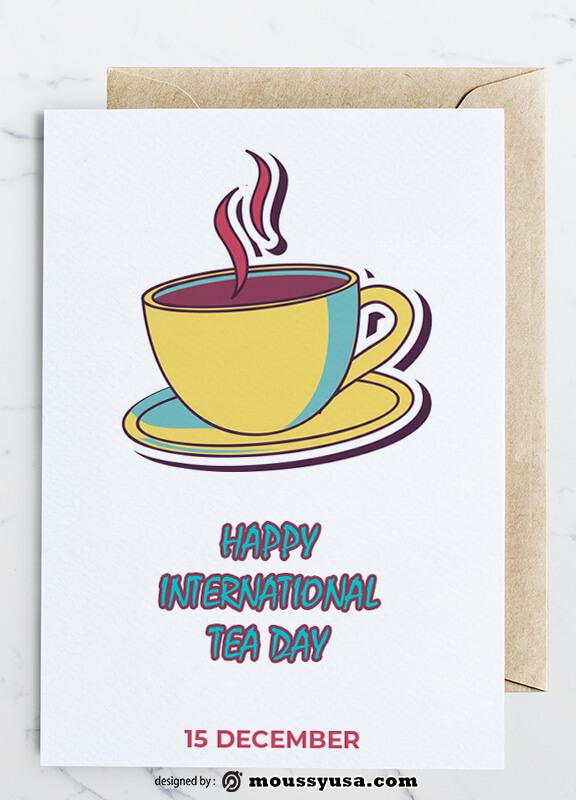 Tea Day Greeting Card Design Ideas