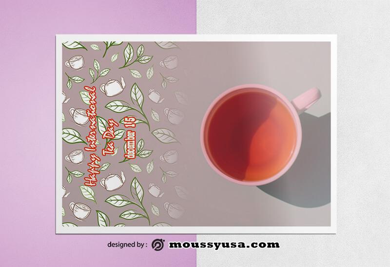 Tea Day Greeting Card Design templates