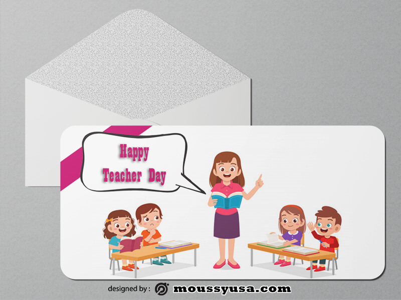 Teacher Day Greeting Card templates Sample