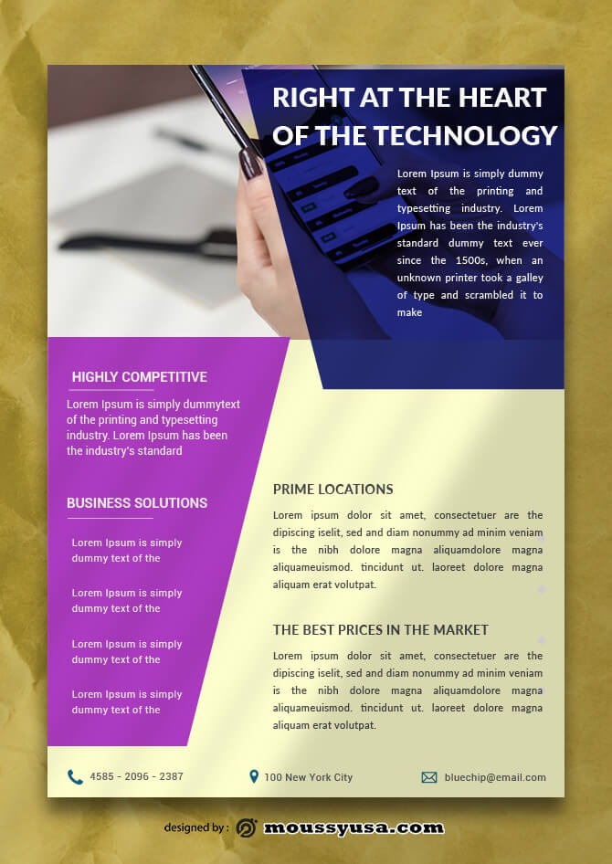 Technology Data Sheet Design Ideas