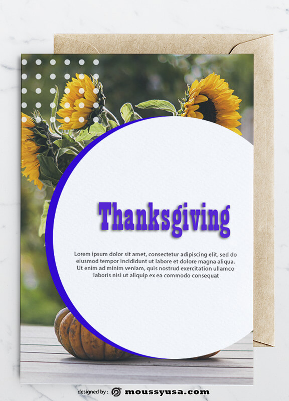 Thanksgiving Greeting Card Design Ideas