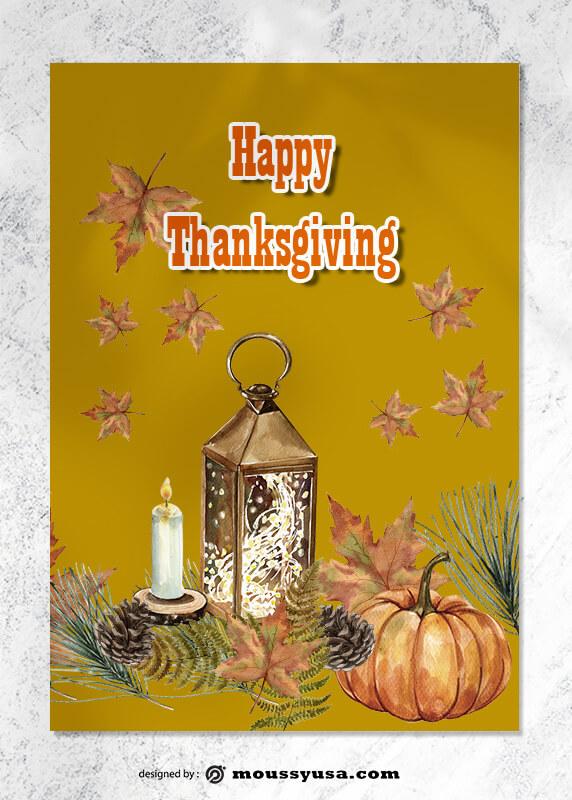 Thanksgiving Greeting Card Design PSD