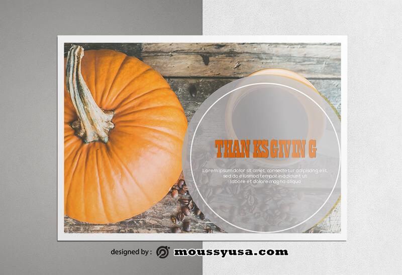 Thanksgiving Greeting Card Design templates