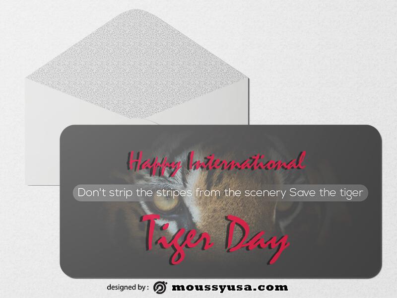 Tiger Day Greeting Card Design Ideas