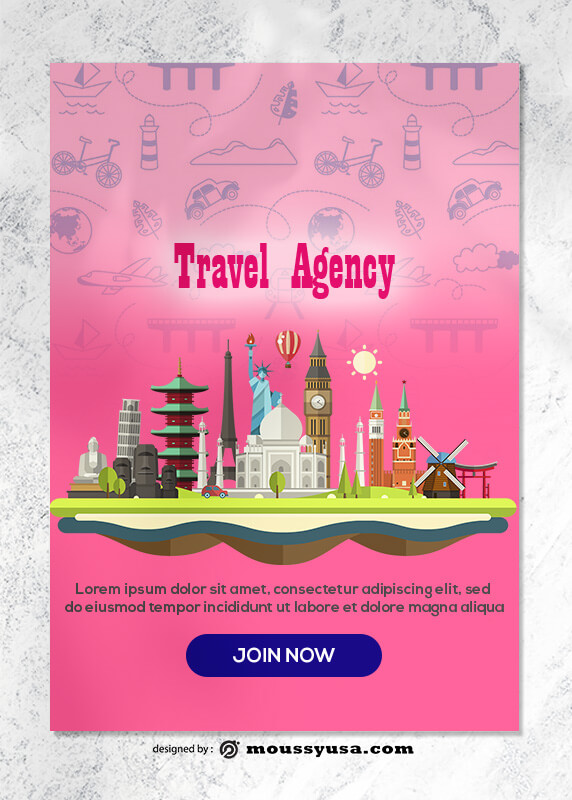 Travel Agency Greeting Card templates Design