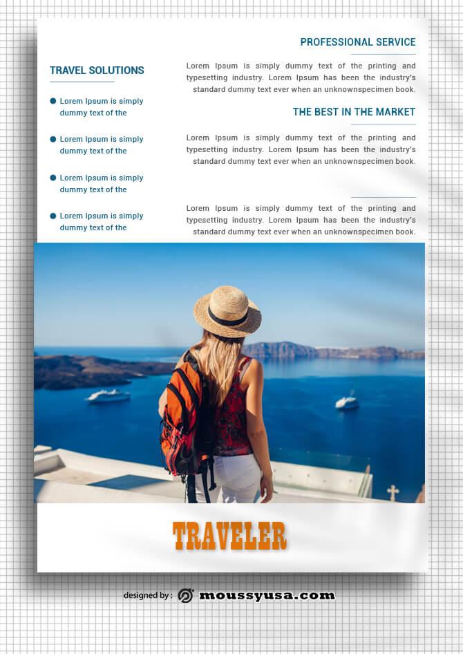Travel Data Sheet Design templates