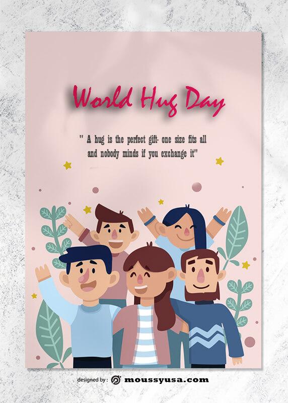World Hug Day Greeting Card templates Ideas
